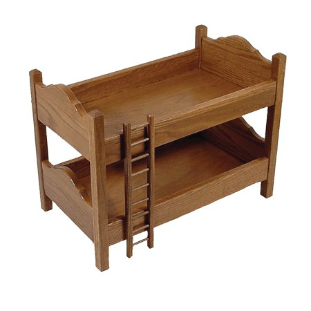 Small Doll Bed (Furniture Barn USA™ Toy Doll Oak Bunk Bed)