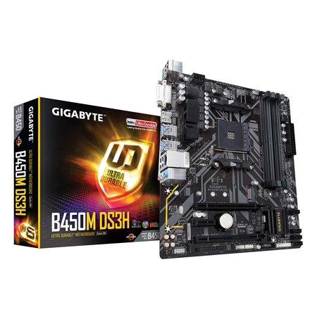 GIGABYTE B450M DS3H (AMD Ryzen AM4/M.2/HMDI/DVI/USB 3.1/DDR4/Micro ATX/Motherboard) Amd Based Motherboards