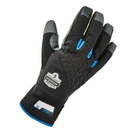 Small Thermal - Ergodyne ProFlex 817 Reinforced Thermal Winter Work Gloves, Touchscreen Capable, Black, Small