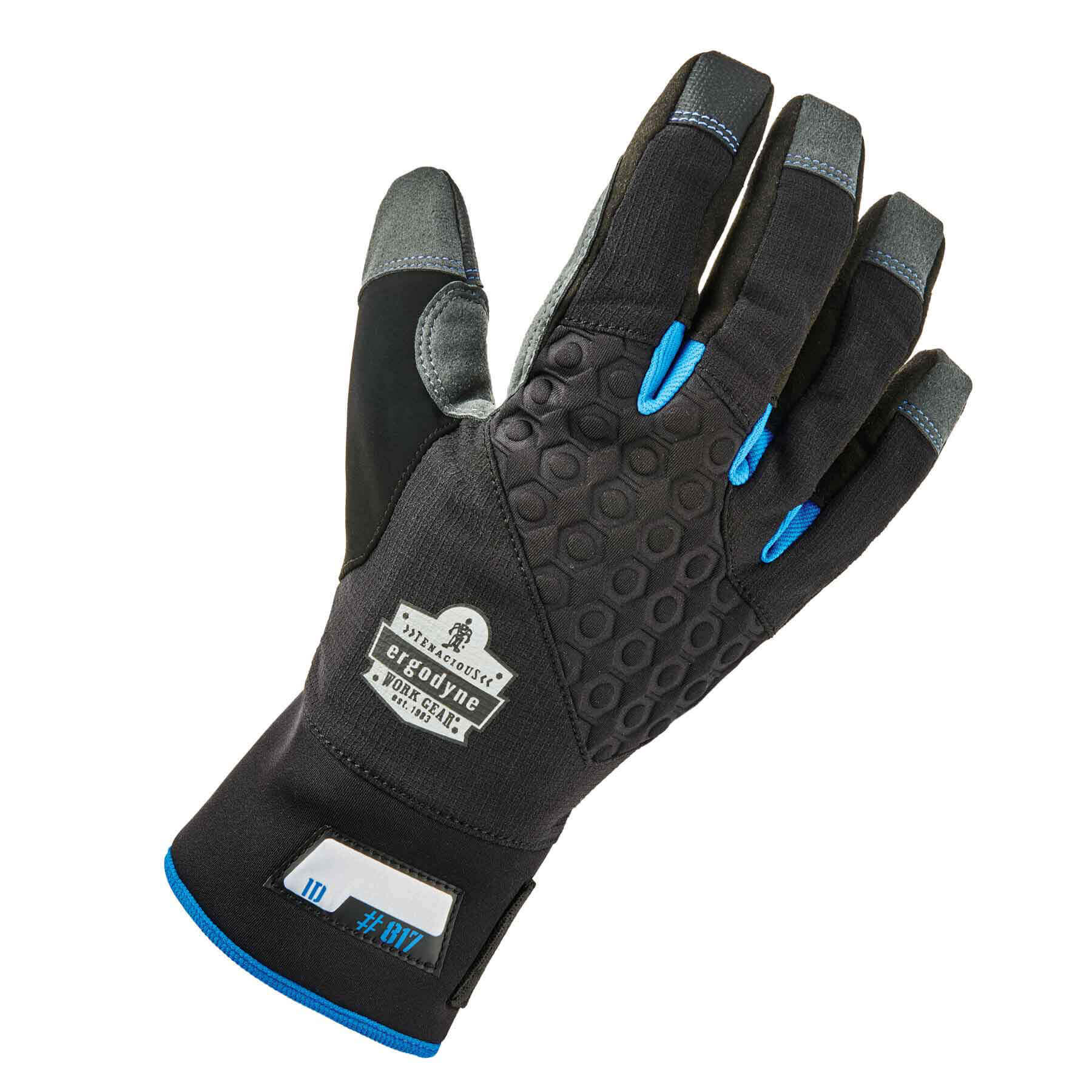 Ergodyne ProFlex 817 Reinforced Thermal Winter Work Gloves, Touchscreen Capable, Black, Small