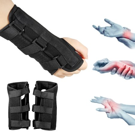 1 Pair Splint Carpal Tunnel 2 Wrist Brace Support Sprain Forearm Band Strap (Wrist Splints Carpal Tunnel)