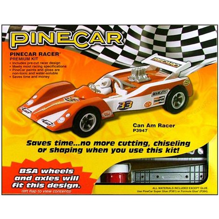Pine Car Derby Racer Kit, Can Am