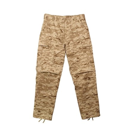 - New, Military Style BDU Pants, Desert Digital Camo, Mens Sizes