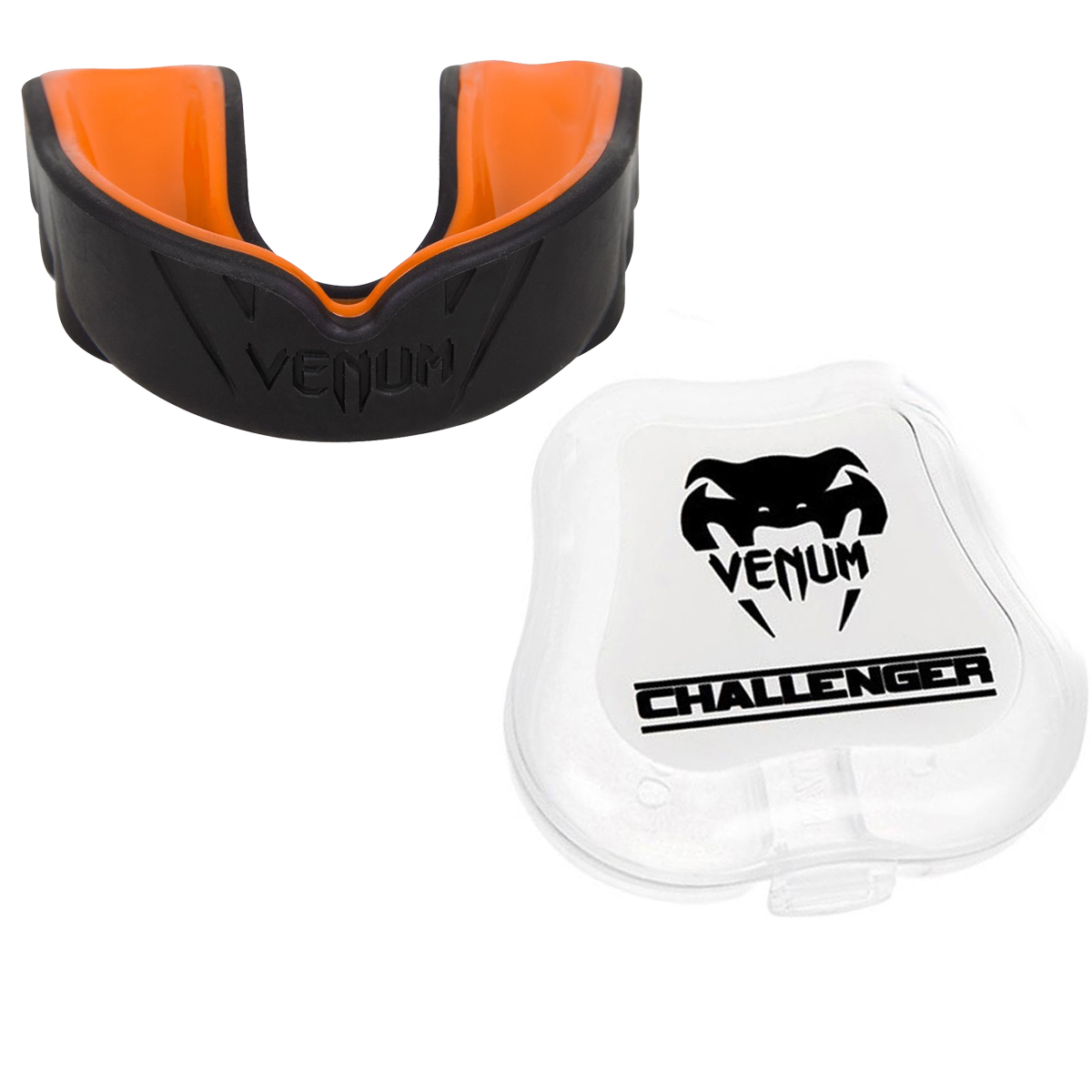 Venum Challenger Mouthguard - Black/Orange