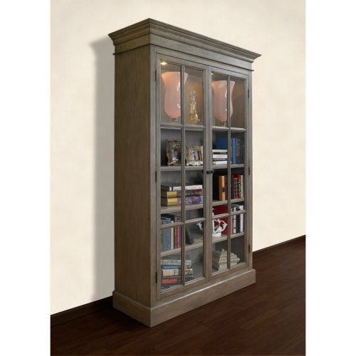 A and E Provence Display Cabinet - Brushed Gray