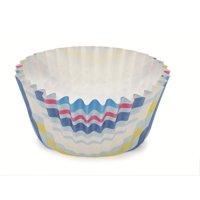 2Dia. x 1.2H Ruffled Cupcake Cup Stripe Blue,Case of 1800