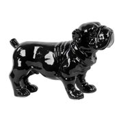 Urban Trends Collection 46654 Ceramic Standing Bulldog Figurine, Black