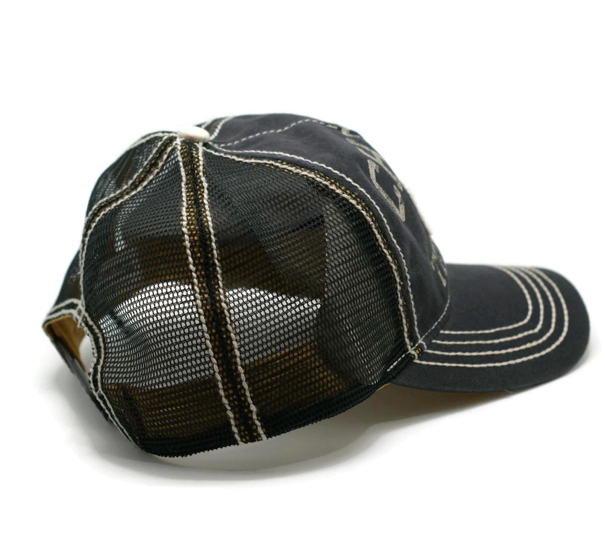 6694cd397 Hat - Chevy Truck Division Mesh Vented Ball Cap Charcoal & Black FREE  SHIPPING