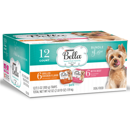 Purina Bella Bundle of Joy With Grilled Chicken & Beef Flavors Adult Wet Dog Food Variety Pack - (12) 3.5 oz.