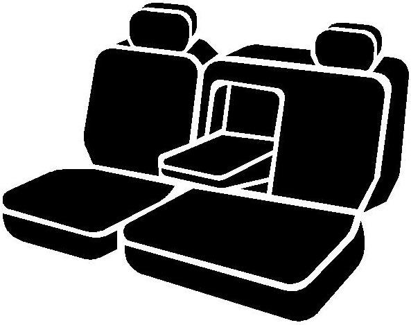 Black w//Gray Center Panel Fia SL62-94 GRAY Custom Fit Rear Seat Cover Split Seat 60//40 Leatherette,