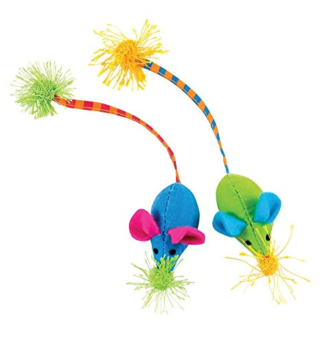 Twice Mice Cat Toys, Twice Mice. Size: body - 2, tail - 4.5. Ship from US..., By Petstages