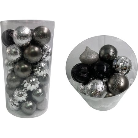 Holiday Time 41 Count Blacksilvermetallic Zinc Ornaments Walmartcom