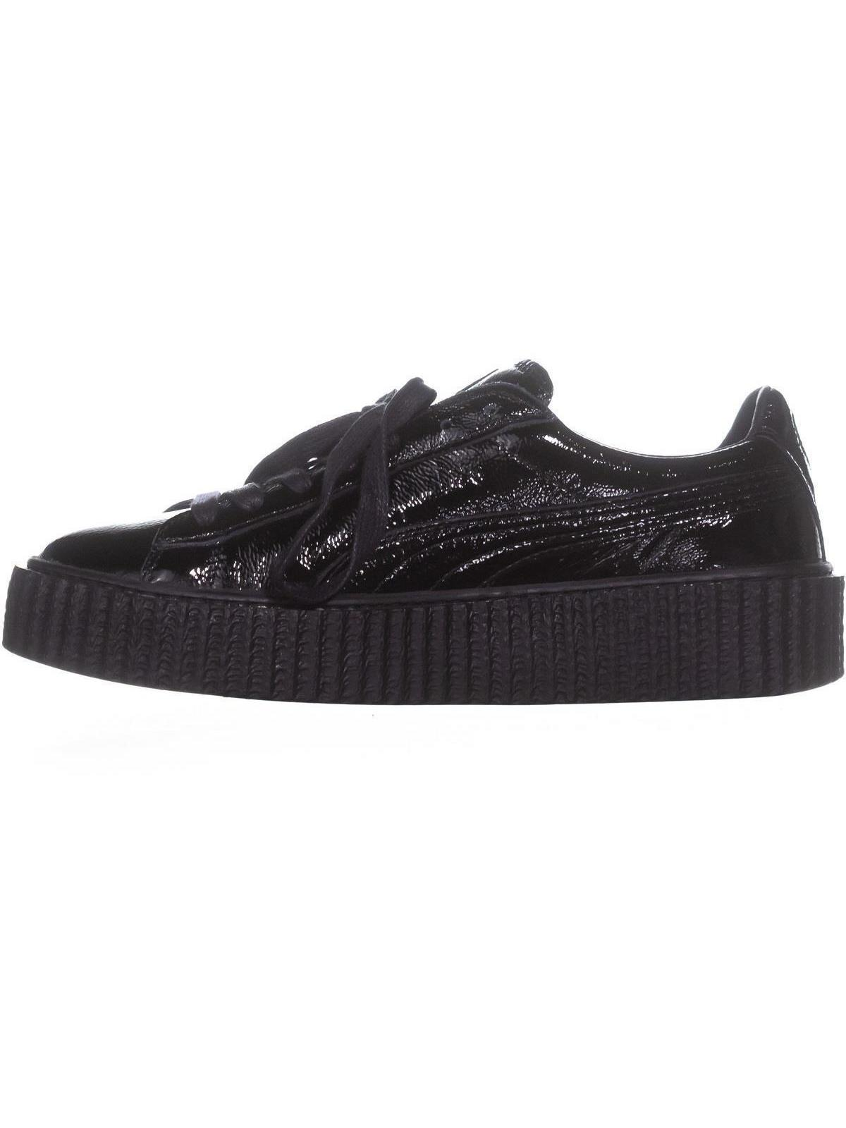e2e2ba199a7eaf PUMA - Puma Women s Creeper Wrinkled Patent Black   Ankle-High Leather  Fashion Sneaker - 6.5M - Walmart.com