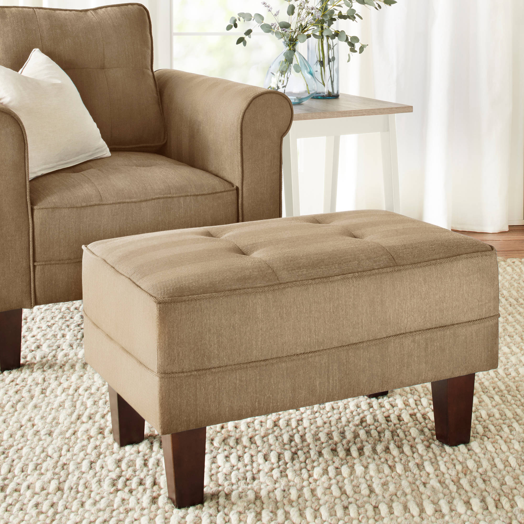 10 Spring Street Ashton Ottoman, Multiple Colors
