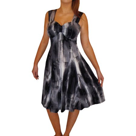 e9f62185bd FunFash - Funfash Plus Size Women Empire Waist A Line Black Cocktail Dress  New Made in USA - Walmart.com