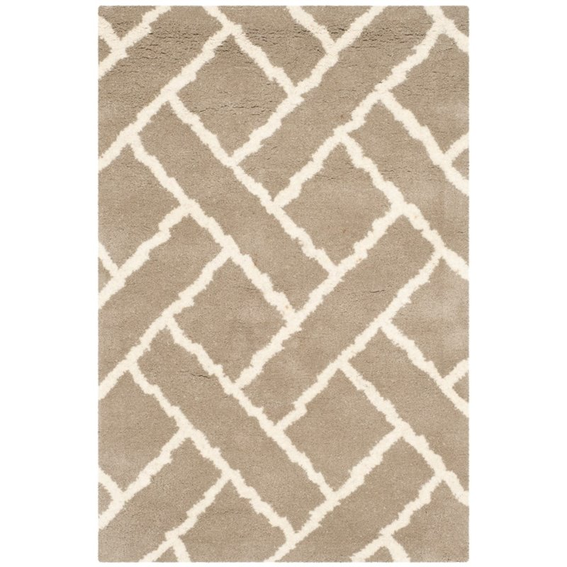 Safavieh Chatham 4' X 6' Hand Tufted Wool Rug in Beige and Ivory - image 10 of 10