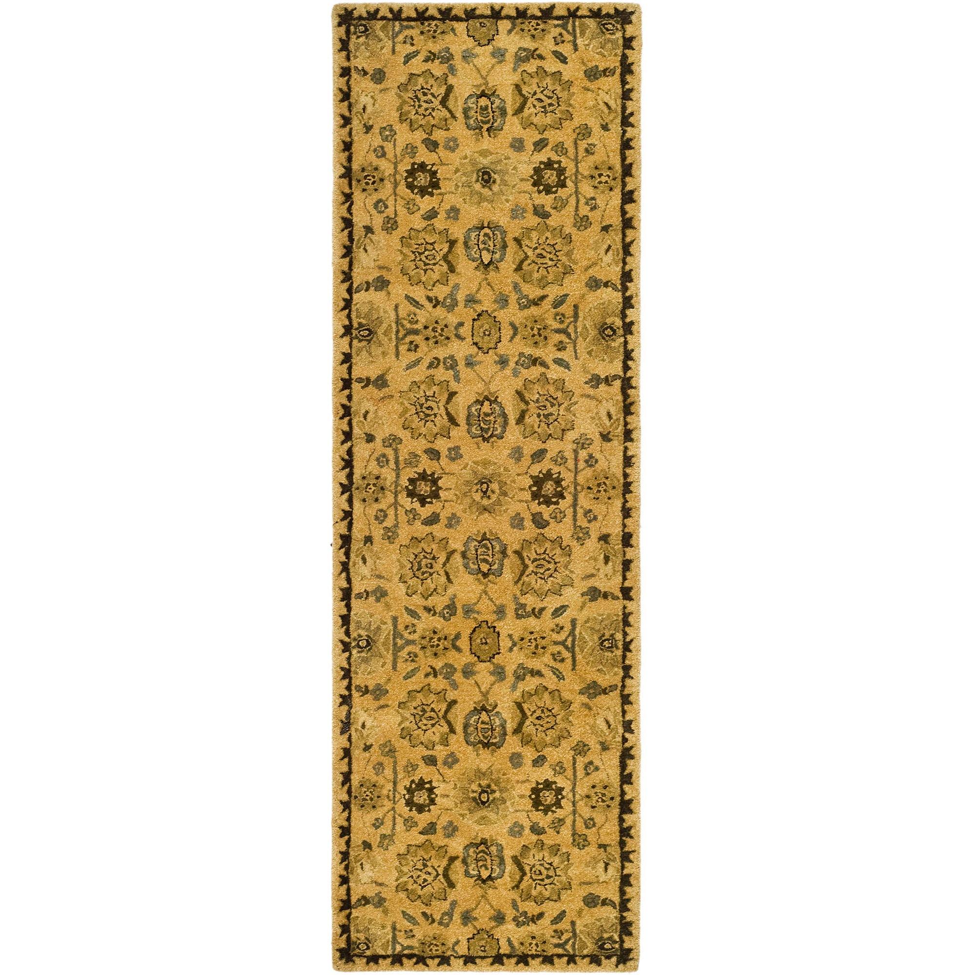 Safavieh Taj Mahal Nima Hand Tufted Wool Runner Rug Taupe