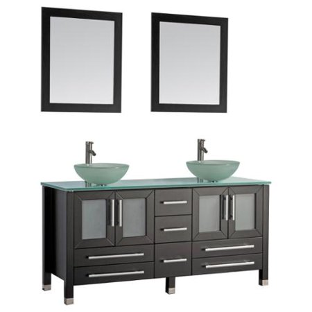 Magnificent Mtd Vanities Cuba 61 Inch Double Sink Bathroom Vanity Set Beutiful Home Inspiration Truamahrainfo