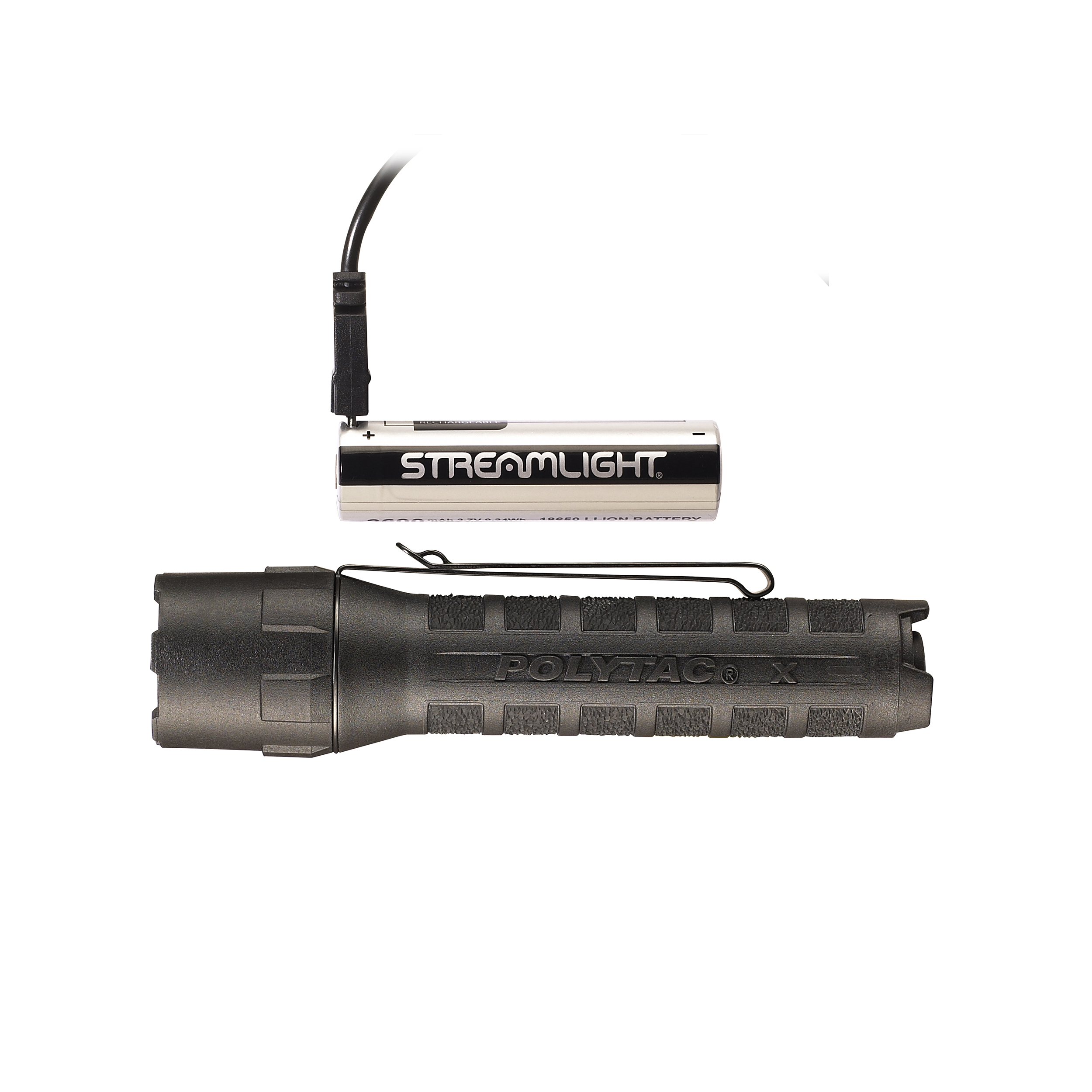 Streamlight 88610 Polytac X USB Rechargeable 600 Lumen LED Handheld Flashlight