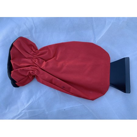 Portable Snow Shovel with Warm Gloves Red