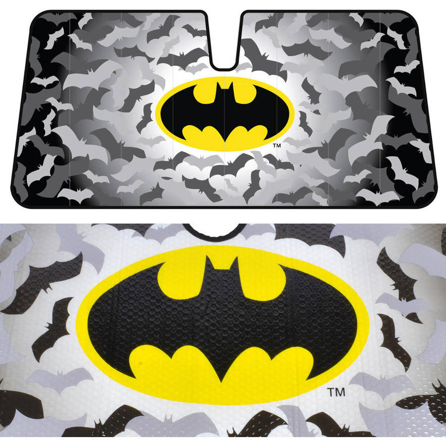 BDK Warner Bros Batman Sunshade, Folding Accordion with Anti-Glare Sun Shade