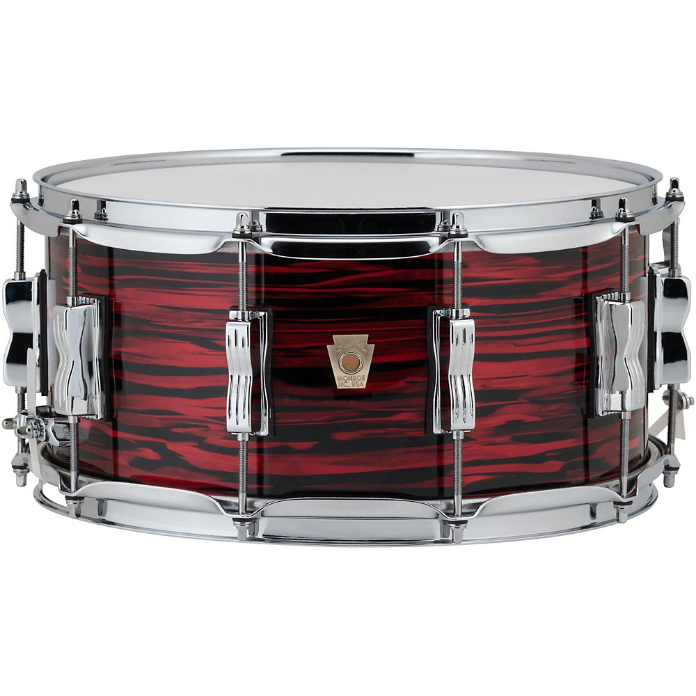 Ludwig Classic Maple Snare Drum 14 x 6.5 in. Red Oyster Pearl by Ludwig