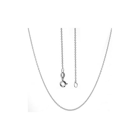 """18"""" 925 Sterling Silver Cable Chain 18 Inch Necklace with Spring Ring Clasp"""