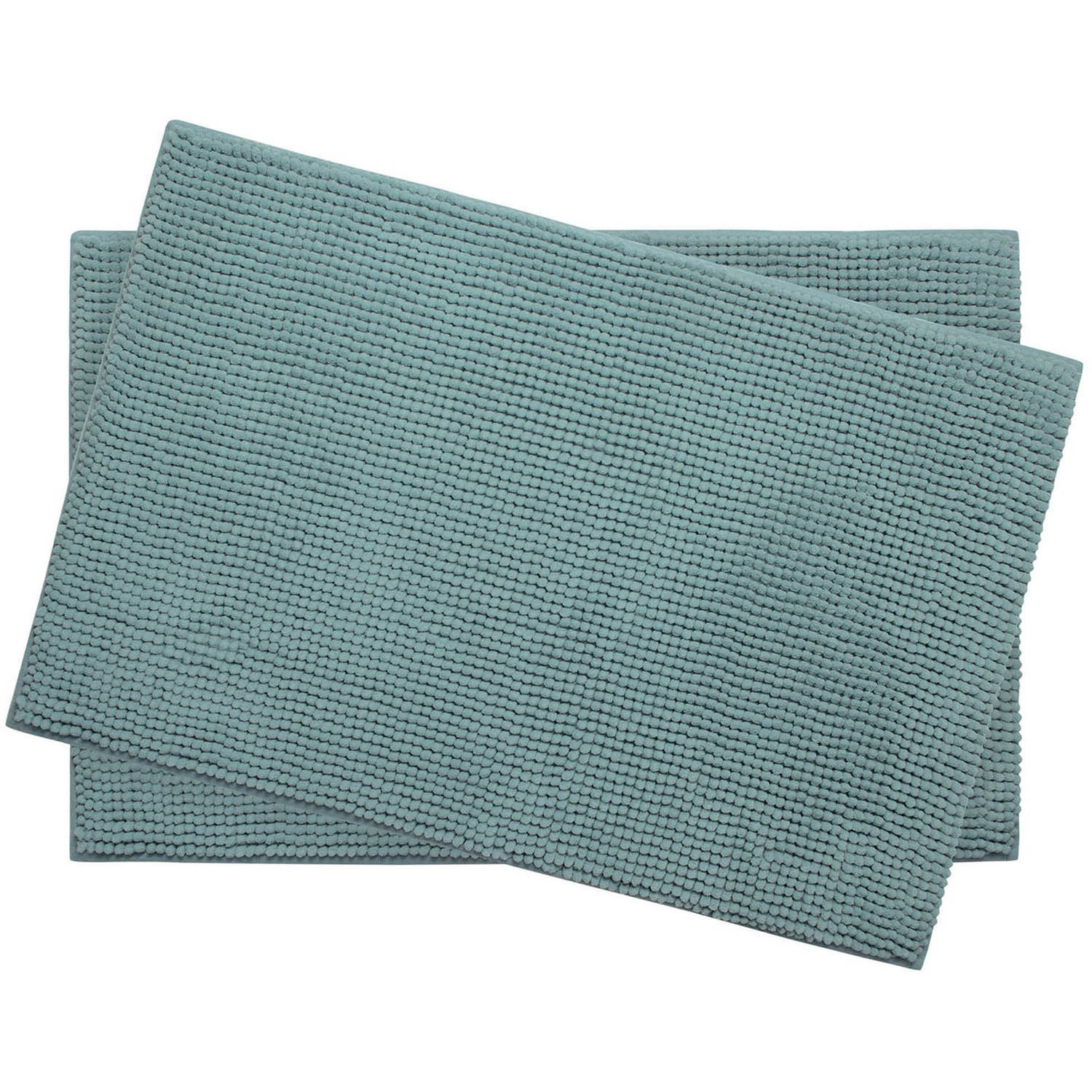 "Plush Memory Foam Chenille Cushioned 17"" x 24"" 2-Piece Bath Mat with Bounce Comfort Technology"