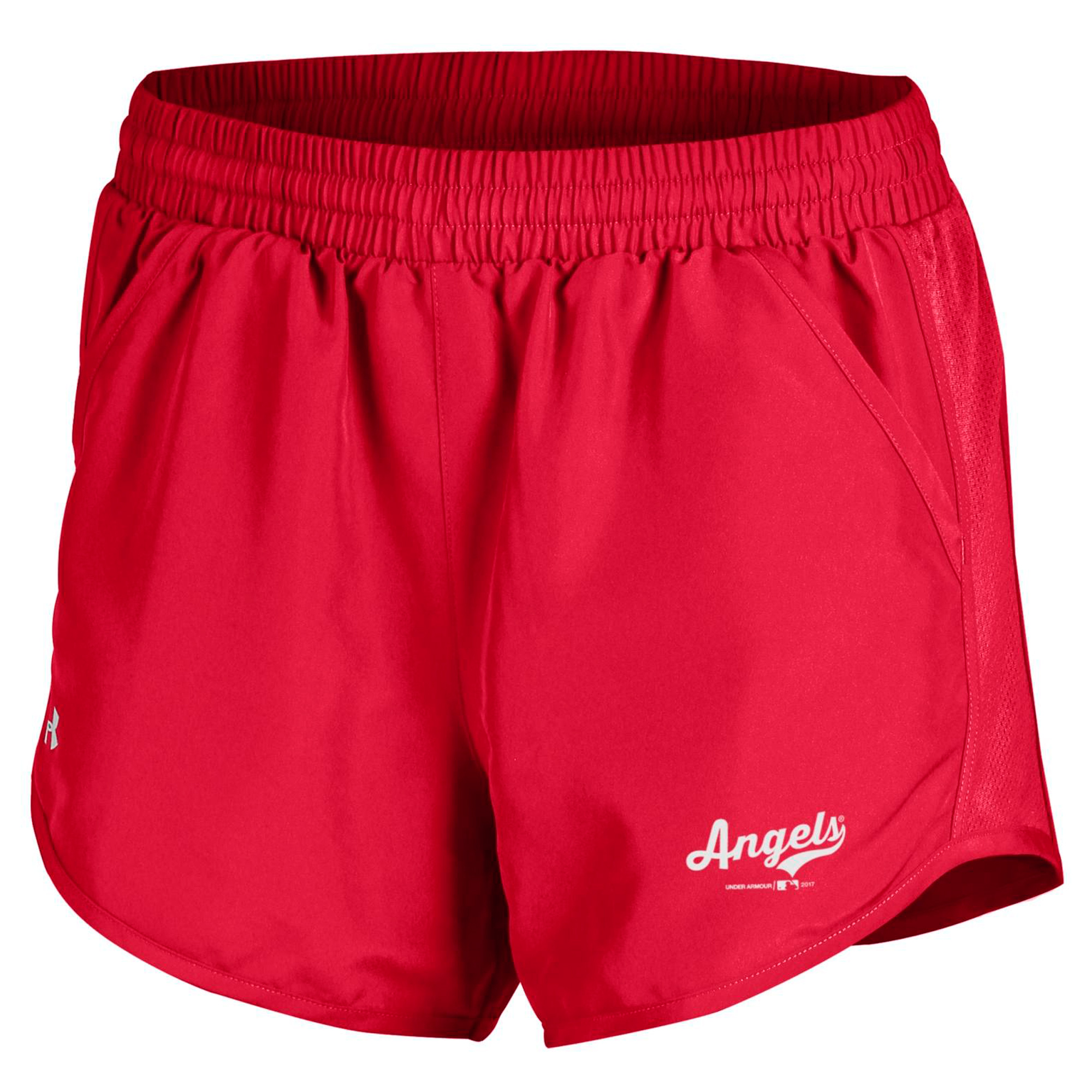 Los Angeles Angels Under Armour Women's Fly By Performance Running Shorts - Red