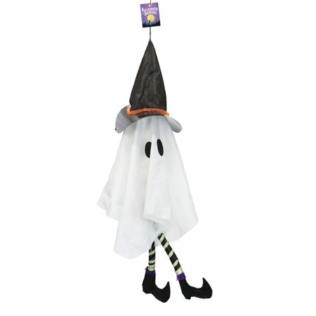 Halloween Haunters Hanging Animated Witch Ghost with Sound & Light-Up Body - Prop Decoration (Animated Witch)