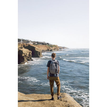 Canvas Print Water Man People Edge Nature Travel Waves Guy Stretched Canvas 10 x 14](Guy Waving)