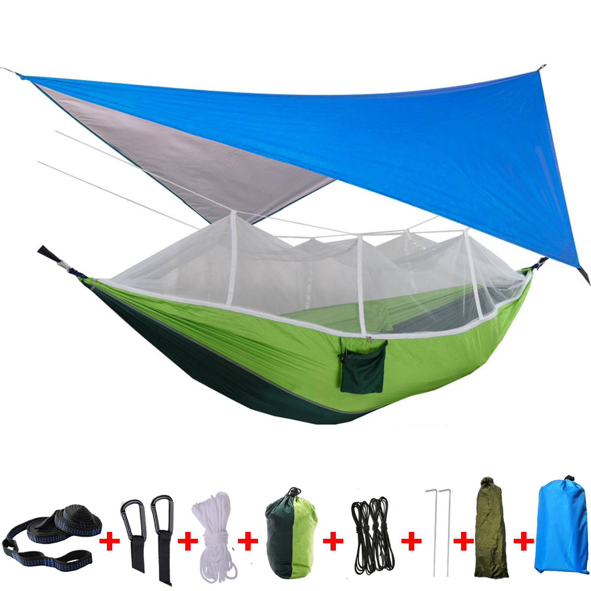 Details about  /Double Person Travel Portable Camping Tent Hanging Hammock Bed With Mosquito Net