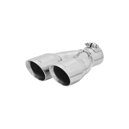 Flowmaster - 15389 - Exhaust Tip - Dual 3.00 in. Fits 2.50 in. - Right -Clamp on