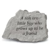 Kay Berry- Inc. 74120 A Son Is A Little Boy Who Grows Up To Be A Friend - Garden Accent - 4.5 Inches x 3.75 Inches