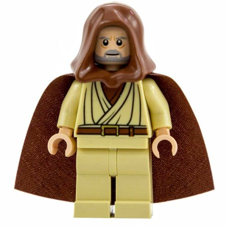LEGO Star Wars Obi-Wan Kenobi (Old, Light Flesh with Hood and Cape, with Pupils)