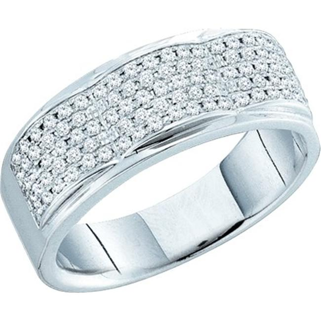 Gold and Diamonds RF5373-W 0.50CT-DIA MICRO-PAVE BAND- Si...