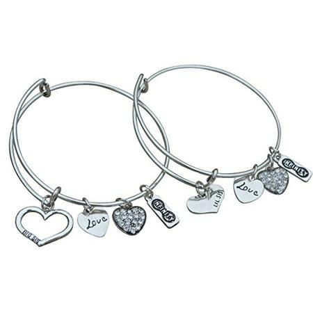Sister Gifts Braclet Set Bangle Bracelet And Litttle