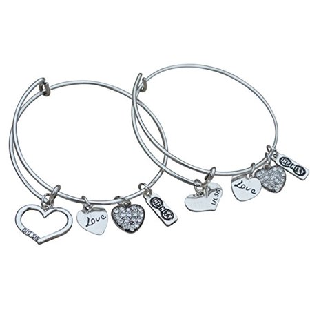 Sister Gifts- Sister Braclet Set- Sister Bangle Bracelet Set- Big Sister and Litttle Sister - Sister- Perfect Gift for Sisters ()