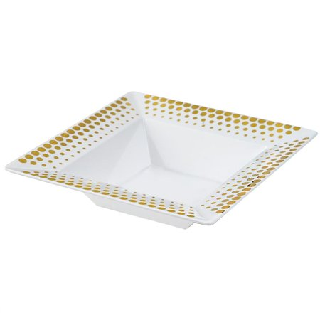 BalsaCircle 10 pcs Disposable Plastic Square Bowls with Dots for Wedding Reception Party Buffet Catering - Party City Super Bowl