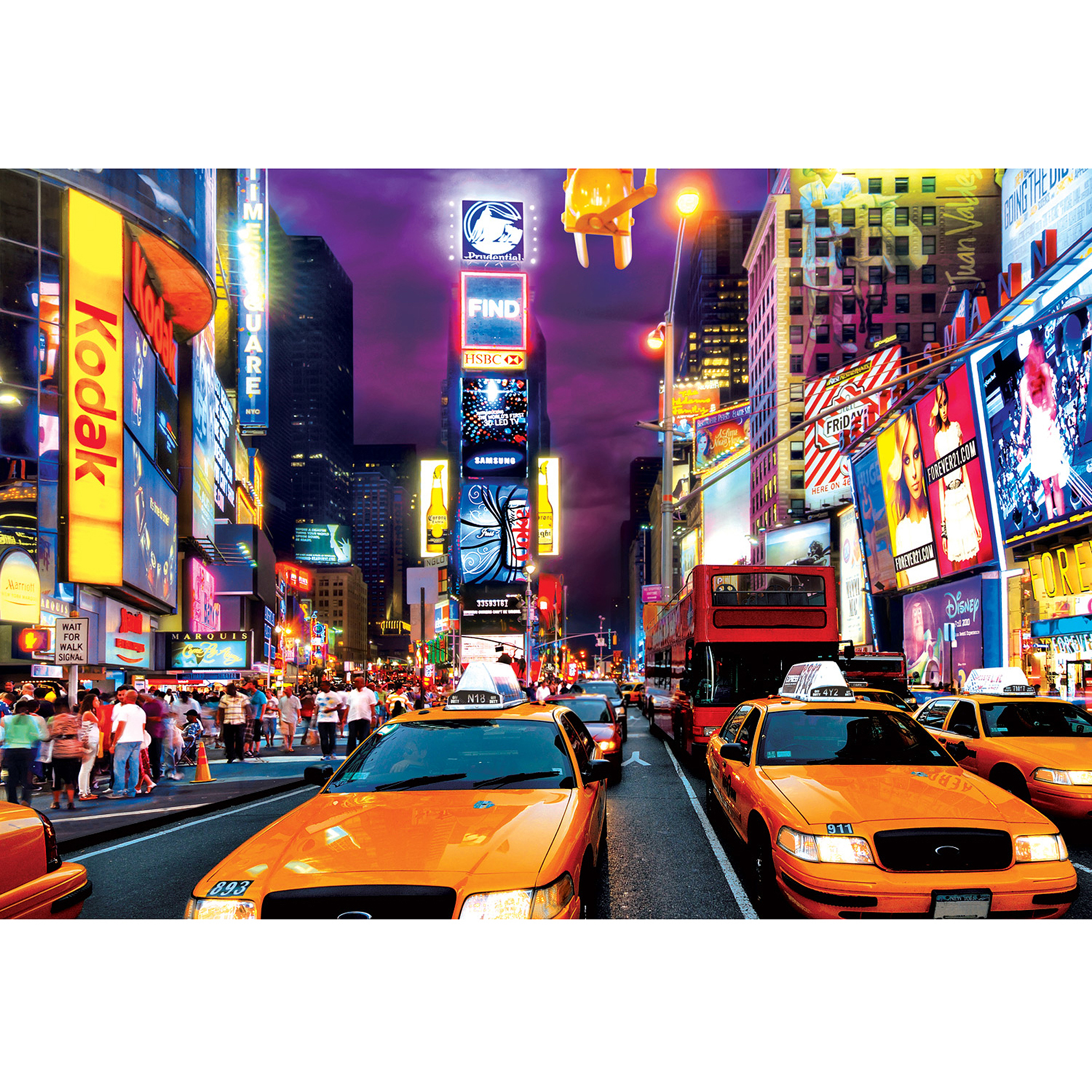 Buffalo Games Large Pieces Times Square Jigsaw Puzzle, 1,000 Pieces