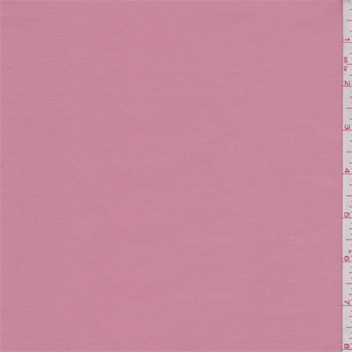 Coral Pink Fine Line Stretch Twill, Fabric By the Yard