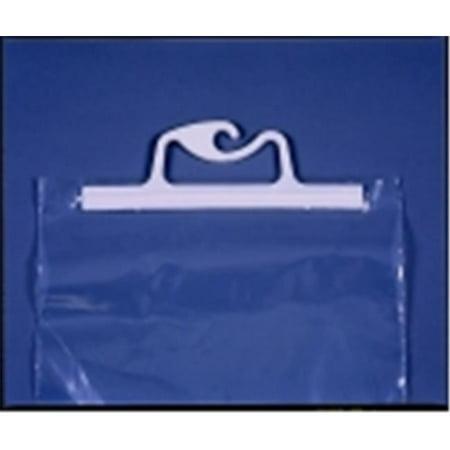 Monaco 10 x 8.5 in. Hangup Portable Original Bag - Clear, Pack 10