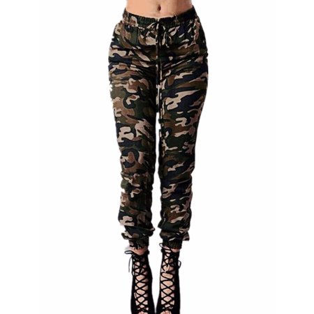 Camouflage Cargo Pants (Women Military Pants Camo Cargo Combat Casual Long Work Trouser)