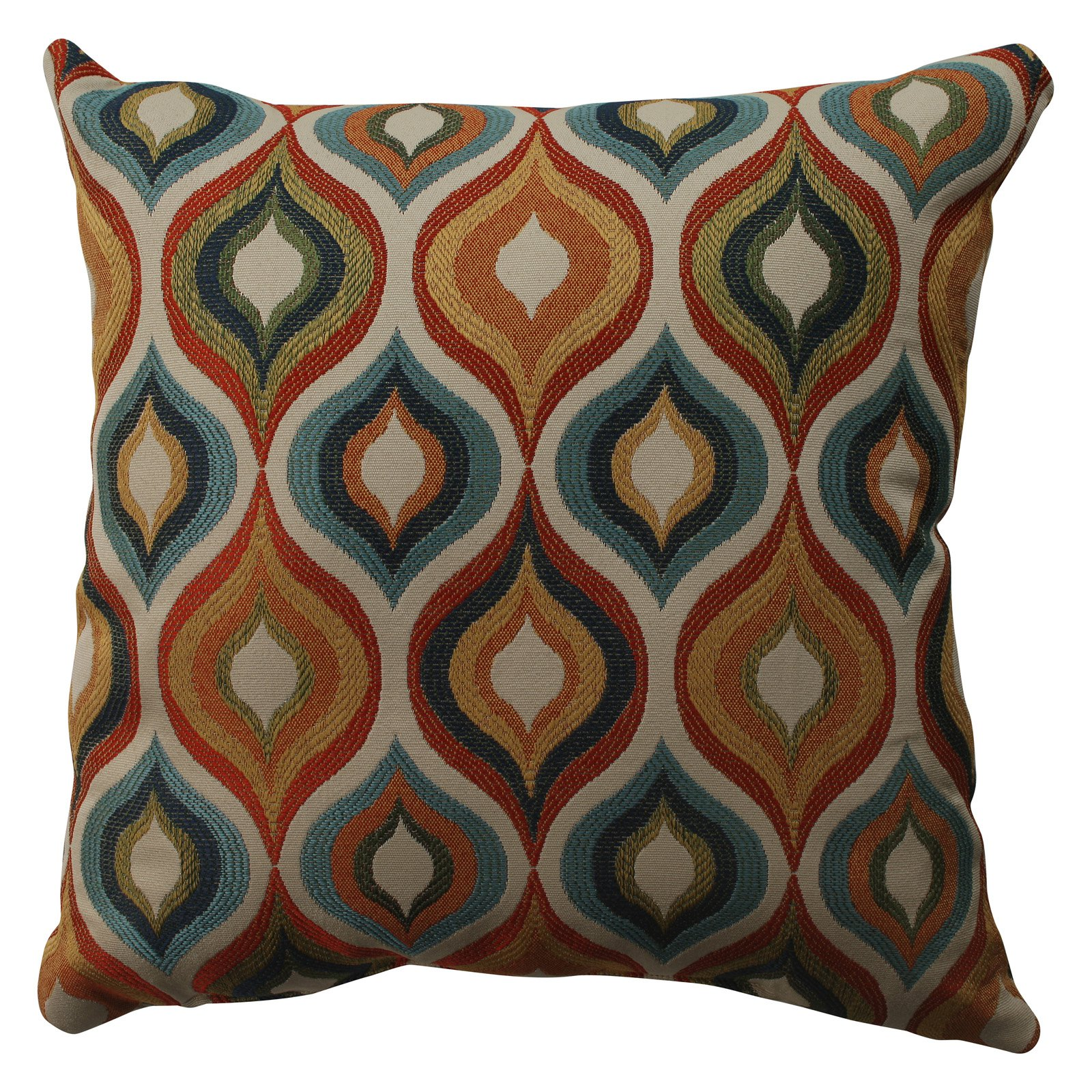 Pillow Perfect Flicker Jewel Throw Pillow by Pillow Perfect