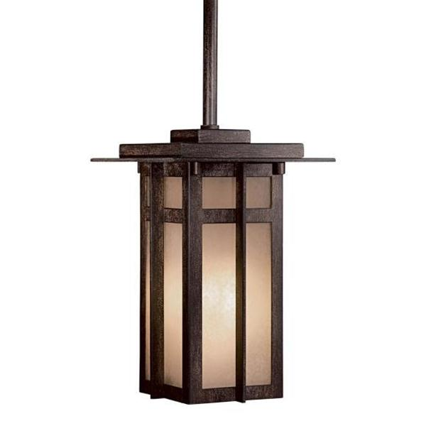 THE GREAT OUTDOORS One Light Bronze Hanging Lantern