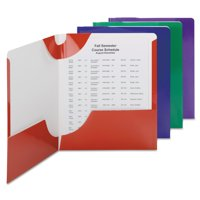 Smead High Gloss Lockit Two-Pocket Folder, 11 x 8 1/2, Assorted, 8/Pack -SMD87800