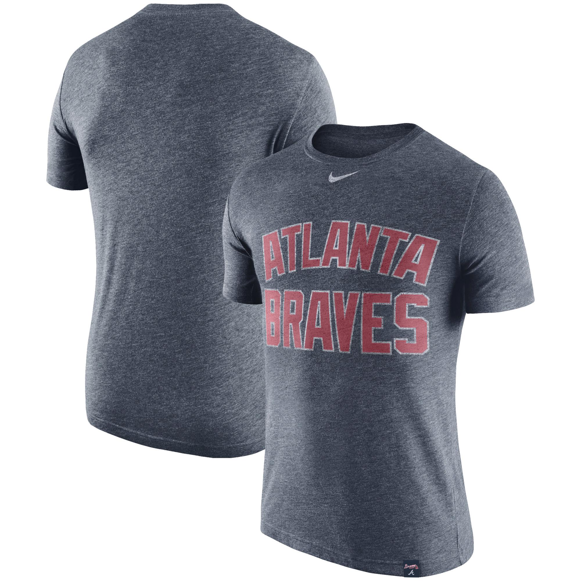 Atlanta Braves Nike Tri-Blend DNA Performance T-Shirt - Heathered Navy