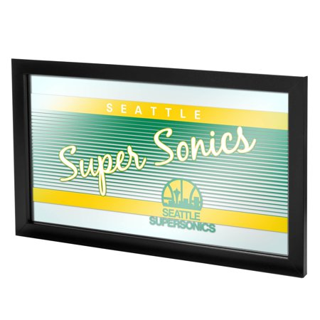Photo Seattle Sonics Basketball (Trademark Gameroom Seattle Super Sonics Hardwood Classics NBA Logo Mirror )