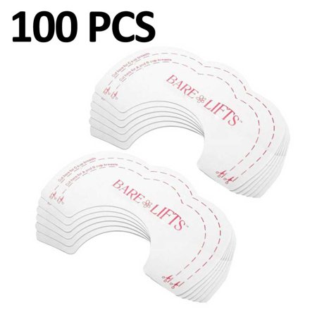 Breast Lift Tape 100 Pcs Breast Petals Invisible Adhesive Most Comfortable FREE Eyeglass Pouch by