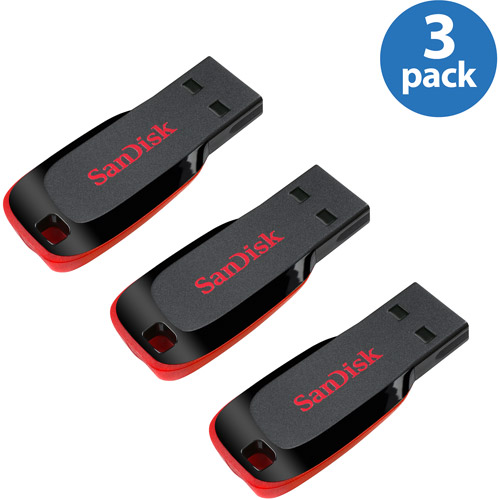 SanDisk CZ50 16GB USB Flash Drive 3-Pack Value Bundle
